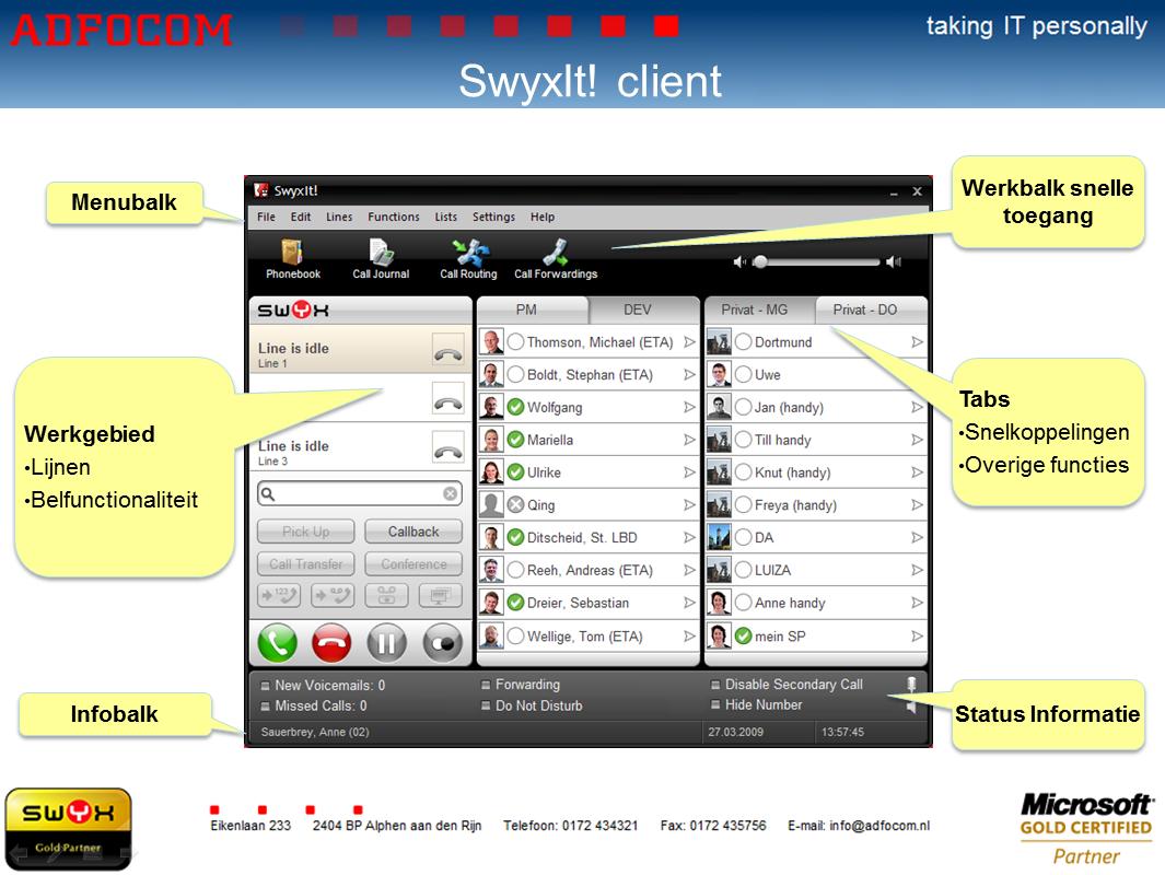SwyxIt! client met presence