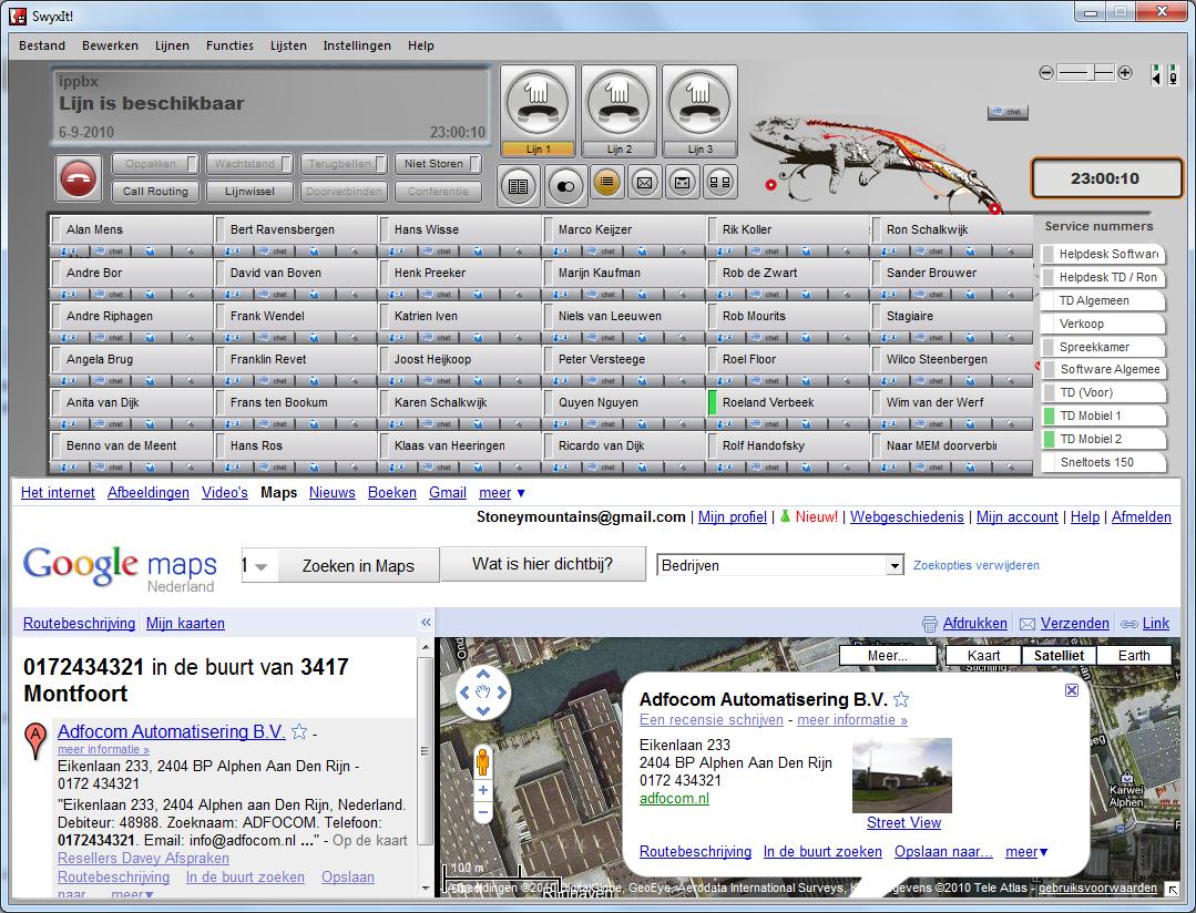 SwyxIt! client met web extension
