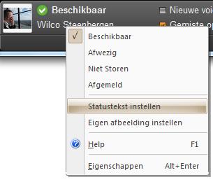 Swyxware 2011 Status tekst instellen
