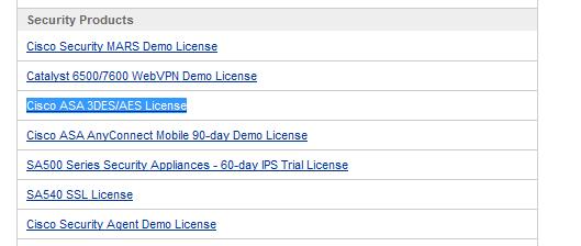 Cisco Demo License