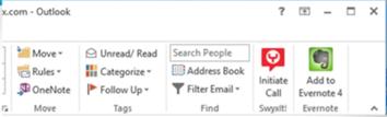 Outlook 2013 ribbon