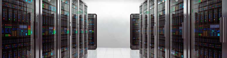 Data veilig opgeslagen op servers in het data center