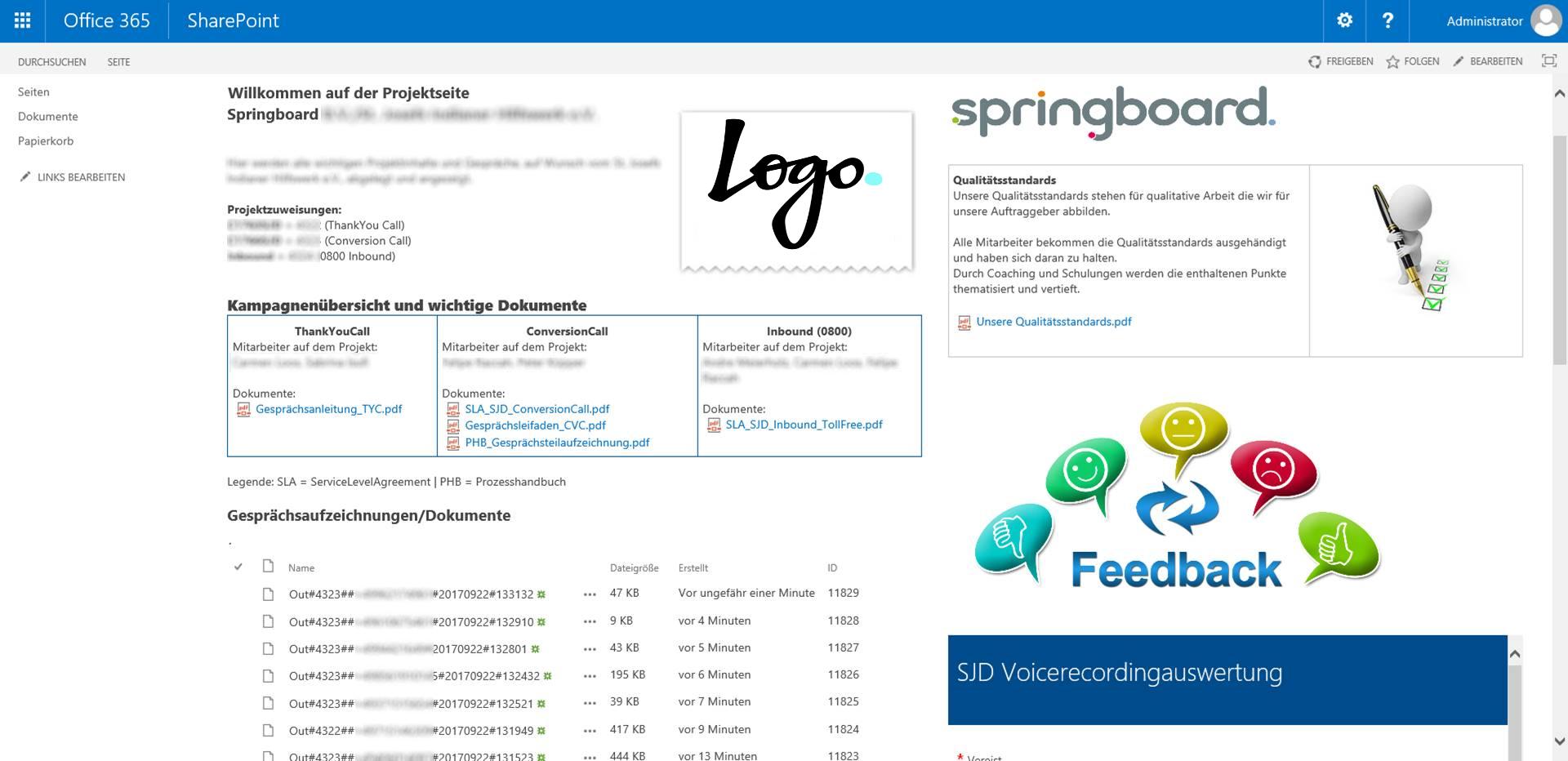 Swyx gespreksopname delen via SharePoint online in meerder talen